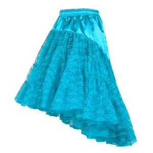 Pettycoat lang, Turquoise,